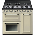 SMEG TR93p 90CM VICTORIA DUAL FUEL RANGE COOKER IN CREAM