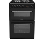 Hotpoint HAG60K 60cm Wide Gas Cooker in Black