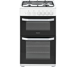 Hotpoint HD5G00KCW 50cm Twin Cavity Gas Cooker In WHITE   **HALF PRICE DELIVERY AND INSTALLATION ON THIS MACHINE ENDS 13.2.21**