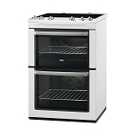 Zanussi ZCV554MW 55cm Wide Double Oven Electric Cooker with large 73.9  litre main oven - available to order