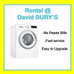 RENT THIS BOSCH  1400 SPIN 8KG LOAD WASHING MACHINE WITH 15 MINUTE FAST WASH