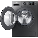 Samsung WW70J5555EX 8kg 1400 Spin Ecobubble Washing Machine in graphite finish with 5 YEAR WARRANTY!