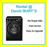 RENT this Hotpoint 7kg load 1400 spin Washing Machine in Black - FAST Service, FREE Repairs, LOW Payments