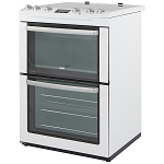 Zanussi ZCV667MWC 60cm Wide Double Oven Electric Cooker with large 74 litre main oven  1 Only ex display model