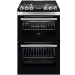 Zanussi ZCG43250XA 55cm Wide Double Oven Gas Cooker in Stainless Steel