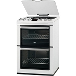 Zanussi ZCG664GWC 60cm Double Oven Gas cooker with Lid. 1 ONLY AT THIS PRICE.