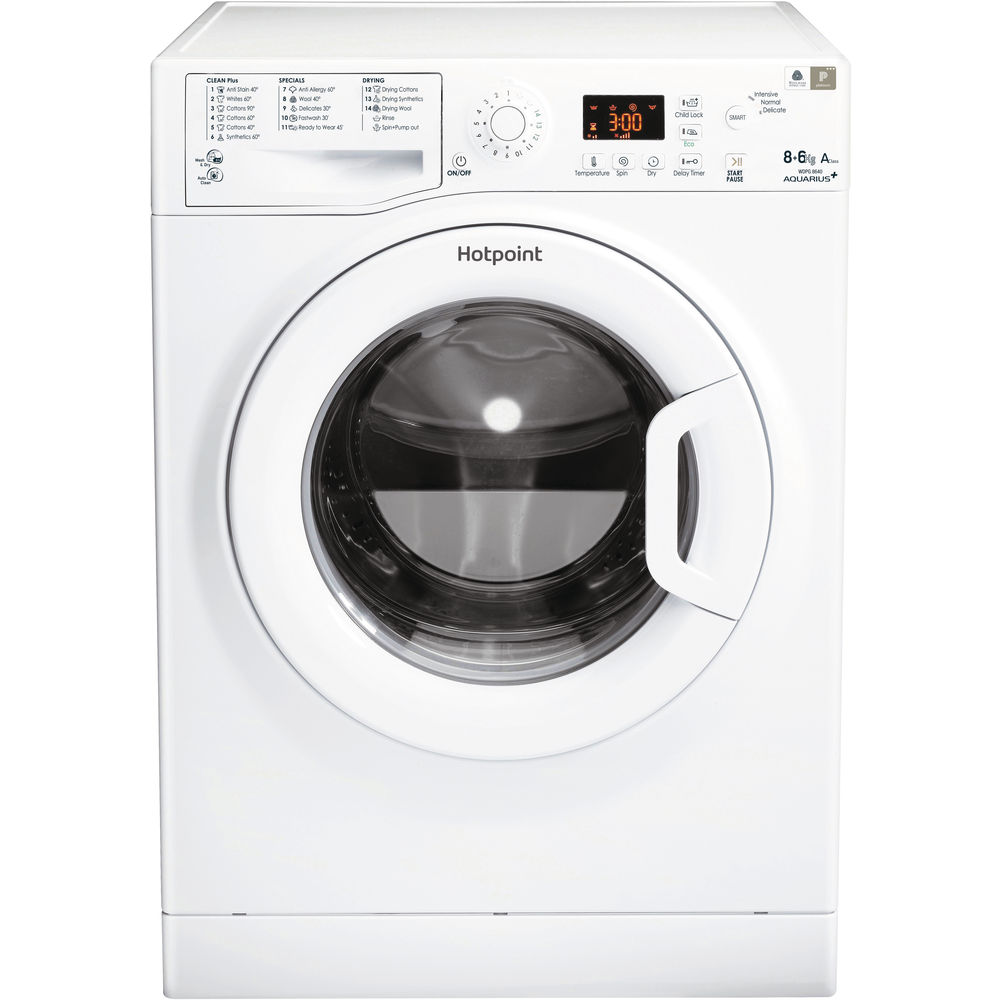 Hotpoint Wdpg8640p 8kg Load Washer Dryer With 1400 Rpm