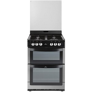 Newworld NW601GDOL Double Oven 60cm Stainless Steel Gas Cooker - With 3 Year Guarantee