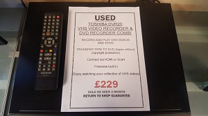 USED TOSHIBA DVR20 DVD/VCR RECORDER COMBI - Transfer your old videos from  VHS onto DVD!