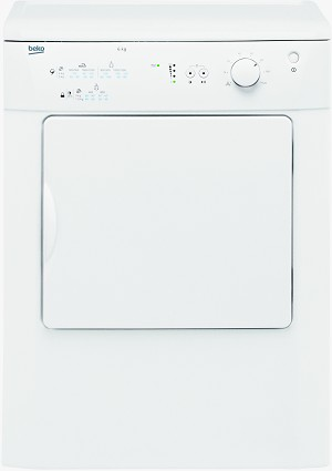Beko DRVT61W 6kg Reverse Action Vented Tumble Dryer with Solid Door **OUR LOWEST PRICED FULL SIZE VENTED DRYER**