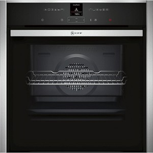 Neff B57CR23N0B Single Built in Fan Oven with Unique Side and Hide Door and Pyrolytic Liners - Available to order